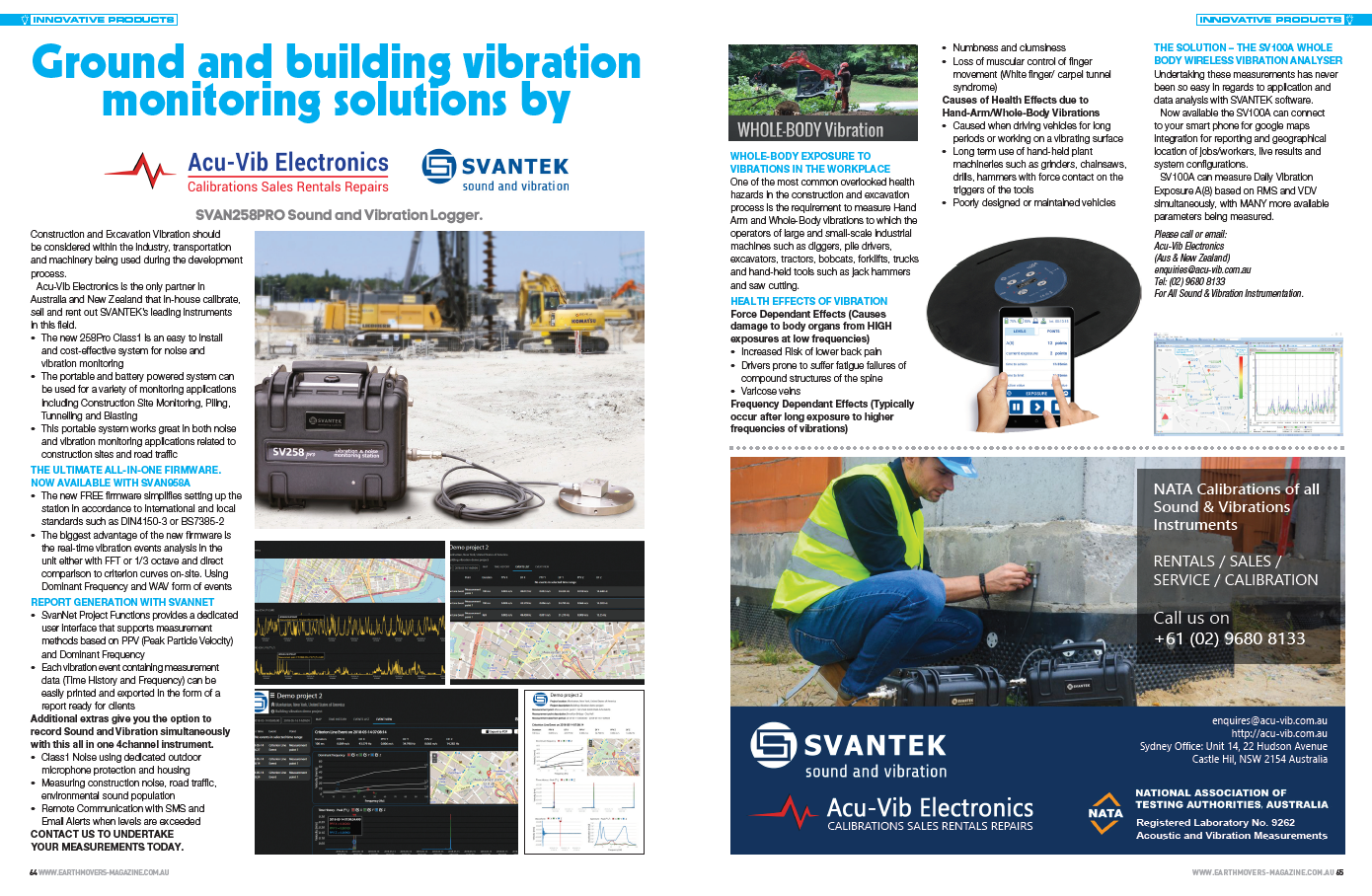 Ground and building vibration monitoring solutions article