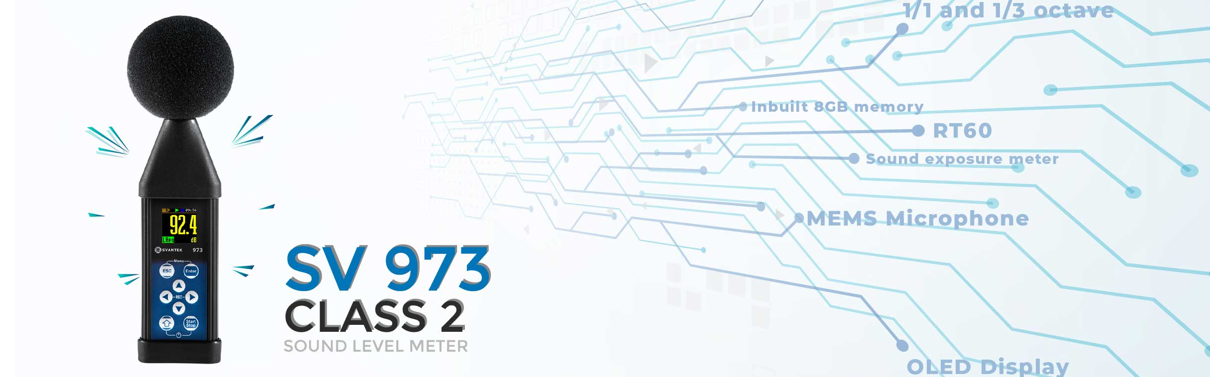 Graphic banner showcasing the SV 973