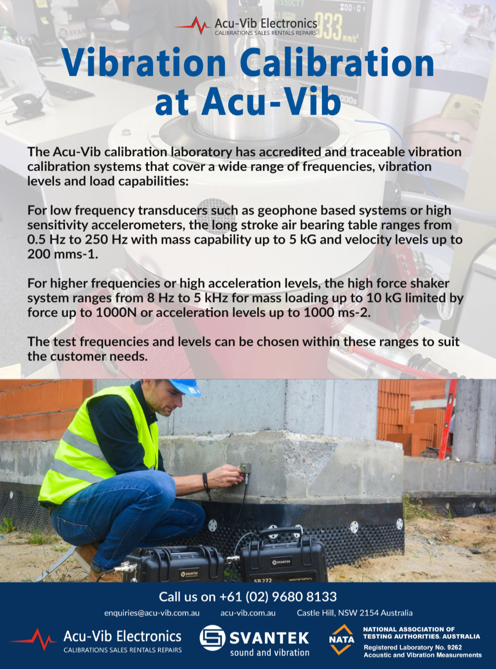 Acu-Vib Acoustic Australia March June ad